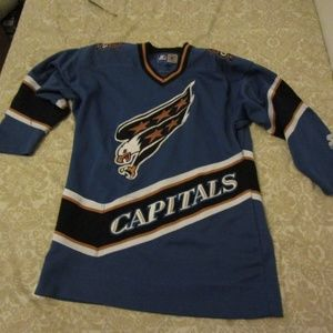 STARTER Shirts - Vntg WASHINGTON CAPITALS Screaming Eagle jersey 59110288b